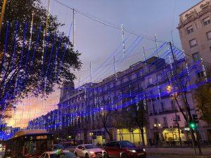 Calles iluminadas en Madrid en Navidad